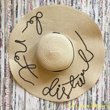 """Do not disturb"" Sequin Floppy Beach Hat"