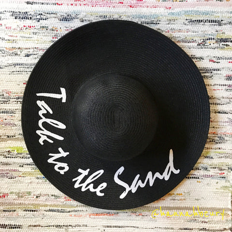 """Talk to the Sand"" Floppy Beach Hat"