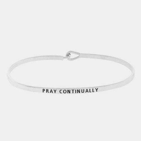 Pray Continually Bracelet