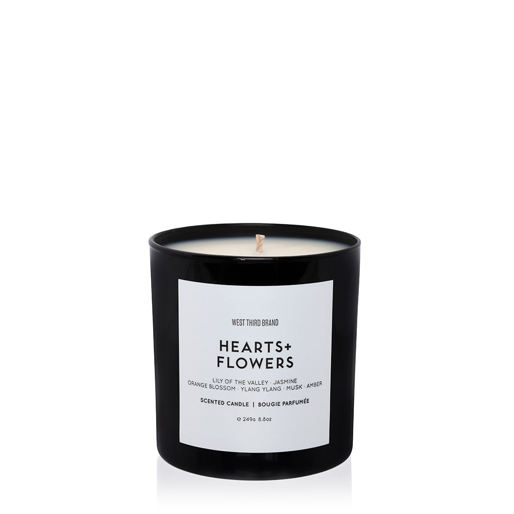 SCENTED CANDLE | HEARTS + FLOWERS