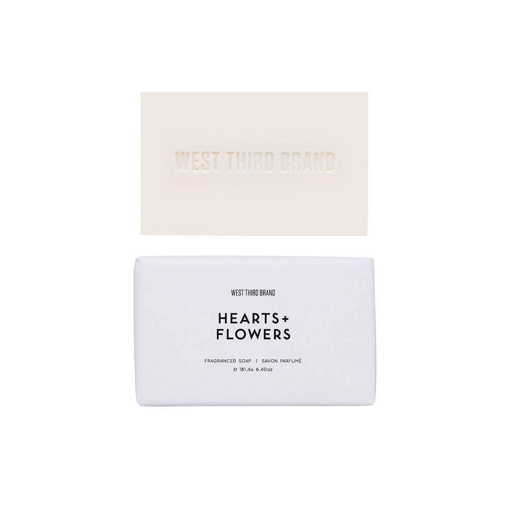 BAR SOAP | HEARTS + FLOWERS