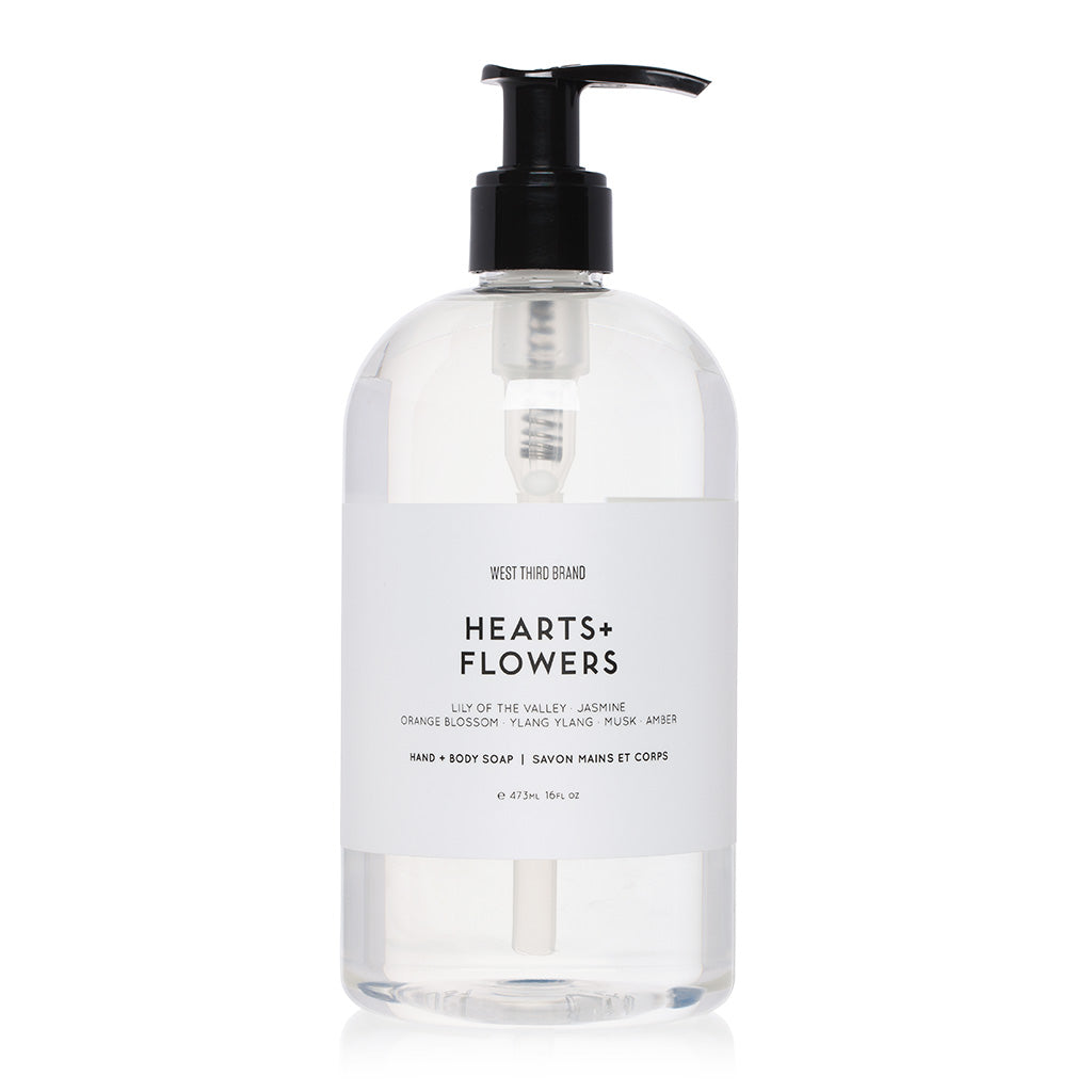 HAND + BODY SOAP | HEARTS + FLOWERS