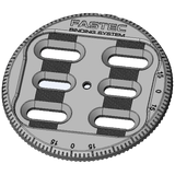 Gnu Multi Disk Set: FT2 Baseplates with Hardware (Pair : Silver) - FixMyBinding.com