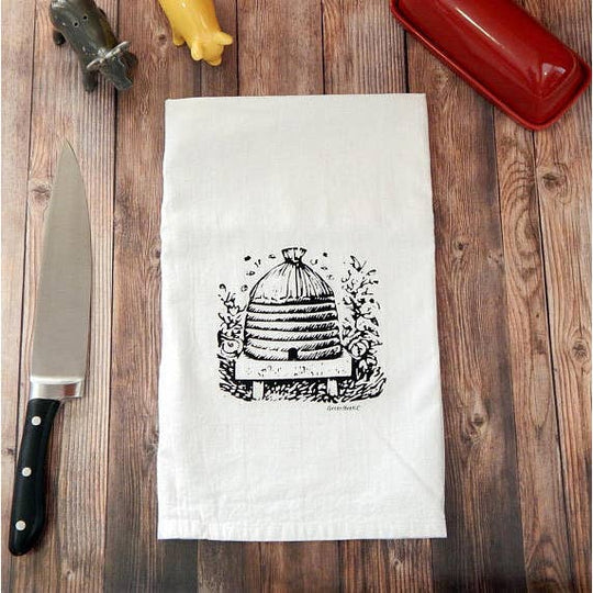 Green Bee Tea Towels | Gardens of Honey