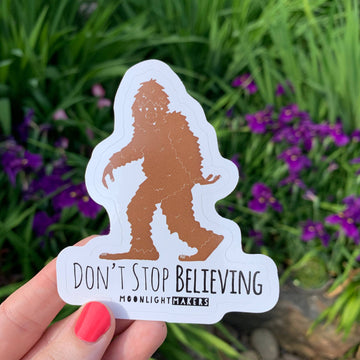 DON'T STOP BELIEVING DIE CUT STICKER