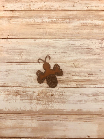 BUMBLE BEE RUSTED MAGNET