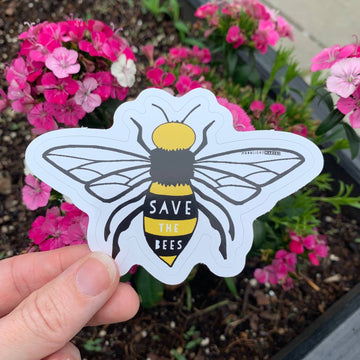 SAVE THE BEES DIE CUT STICKER