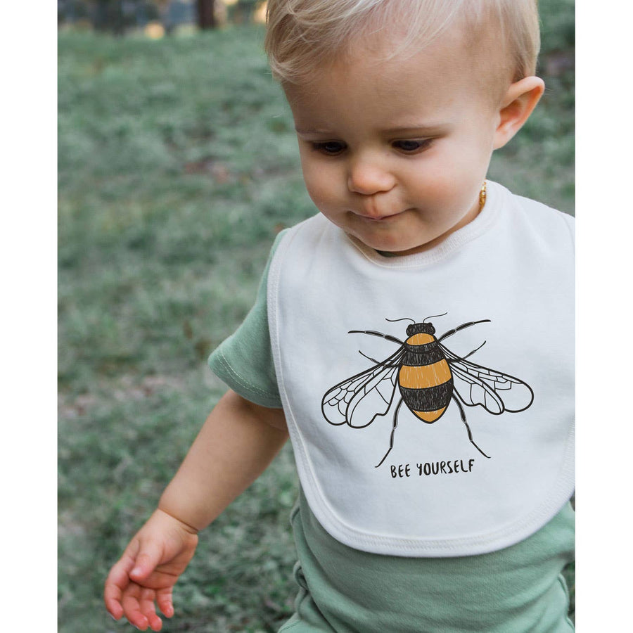 BEE YOURSELF ORGANIC BABY BIB - Bee The Change