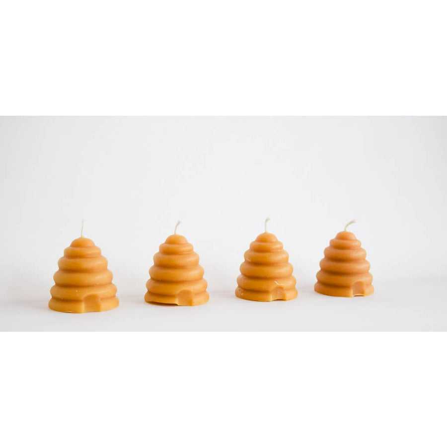 NATURAL BEESWAX BEEHIVE VOTIVE CANDLE - Bee The Change