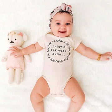 DADDY'S FAVORITE HUMAN ORGANIC BABY BODYSUIT - Bee The Change