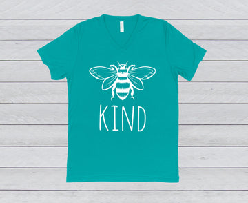 BEE KIND  V-NECK TEE
