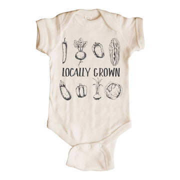 LOCALLY GROWN SHORT SLEEVE BODYSUIT - Bee The Change