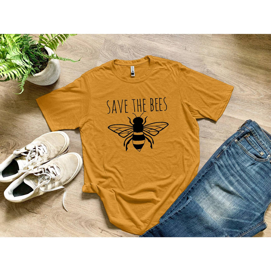 MEN'S TEE - SAVE THE BEES - GOLD - Bee The Change