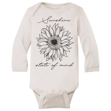 SUNSHINE STATE OF MIND LONG SLEEVE BODYSUIT - Bee The Change