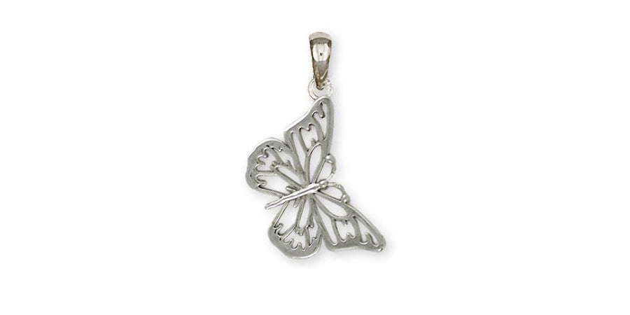 BUTTERFLY PENDANT STERLING SILVER HANDMADE JEWELRY - Bee The Change