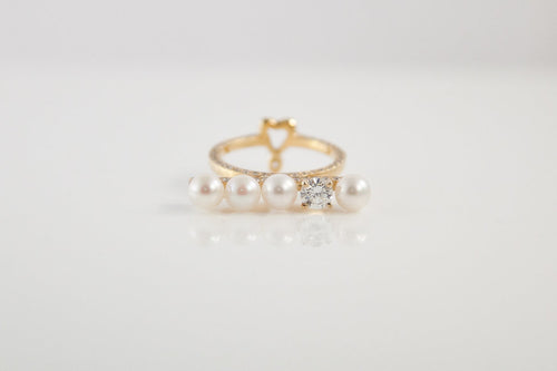 Diamond and Pearls Ring