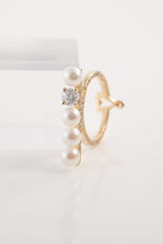 Load image into Gallery viewer, Diamond and Pearls Ring