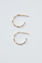 Load image into Gallery viewer, Small Bamboo Hoop Earrings