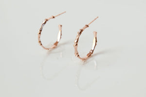Small Bamboo Hoop Earrings