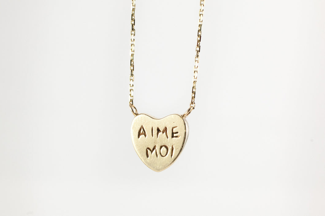 Seven Shades of Love Necklace, Love Me, Kiss Me