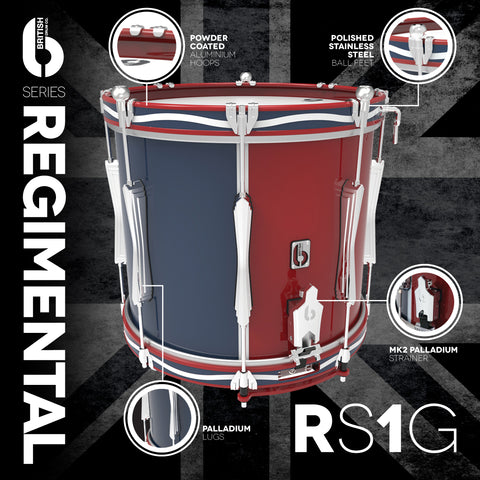"REGIMENTAL SERIES SIDE DRUM 14"" X 12"" LOWERLEVITONE"