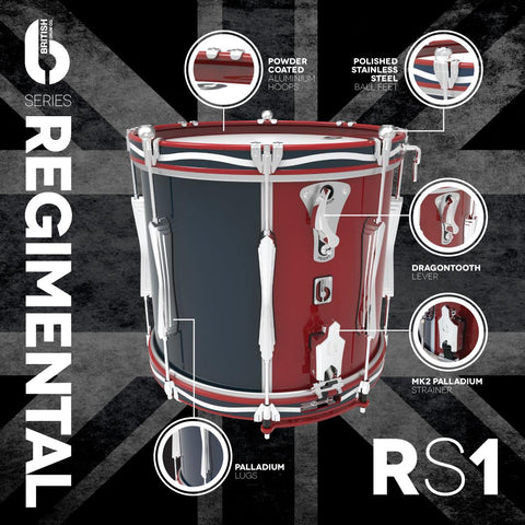 "REGIMENTAL SERIES SIDE DRUM 14"" X 12"" TWIN LEVITONE"