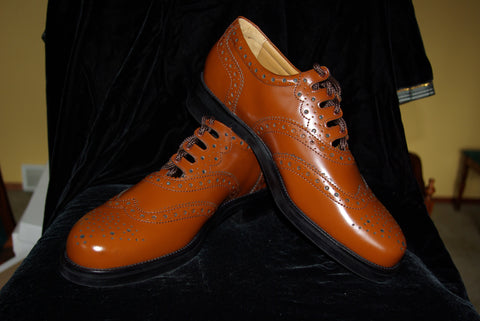 Light Brown Leather Ghillie Brogues - Heavy Duty