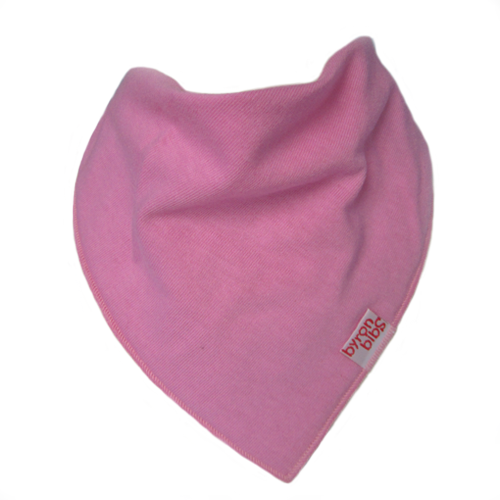 hot pink colour baby teething bandana