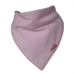 pale pink baby teething bandana