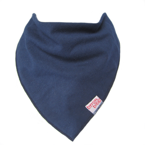 navy colour baby teething bandana