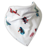 train pattern baby teething bandana