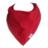 red colour baby teething bandana