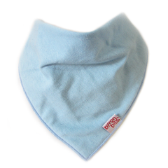 sky blue colour baby teething bandana