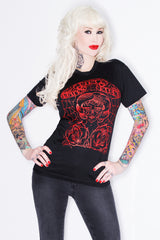 Tattoo T-Shirt with Red ink