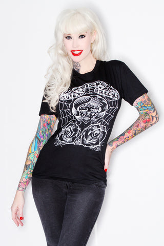 Tattoo T-Shirt with White ink