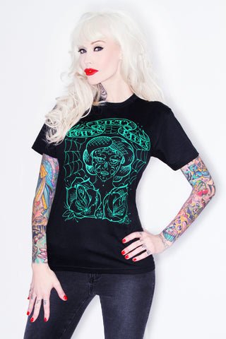 Tattoo T-Shirt with Zombie Green ink