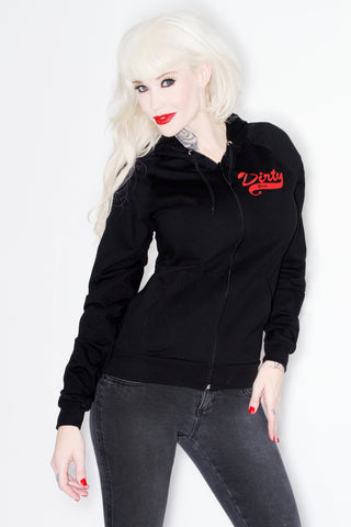 Black & Red Dirty Girls Sweatshirt