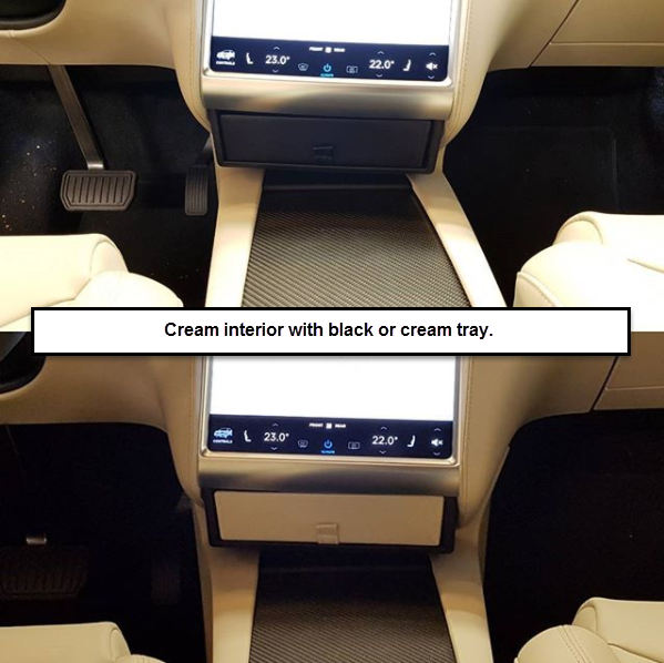 Cream interior with black or cream tray