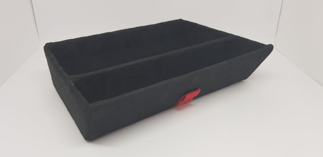 Alcantara tray - black with divider