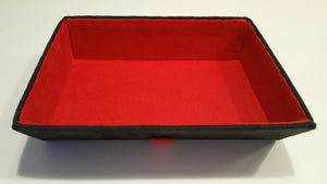 Premium alcantara tray - red