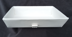 Synthetic leather tray - white