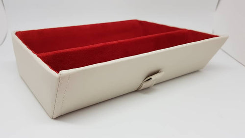 Inverted Premium tray - Cream/red with divider