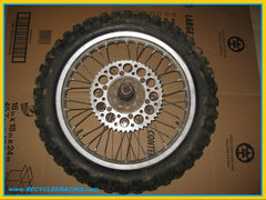 1989 Suzuki RM125 rear wheel assembly