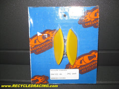 Greggs Customs R6 yellow mirror block off covers 2006 09