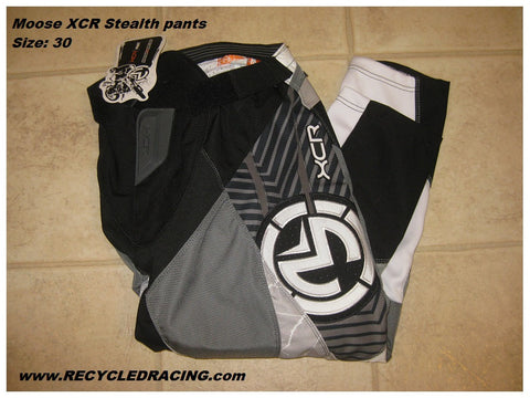 Moose Racing XCR Stealth MX pants Size 30