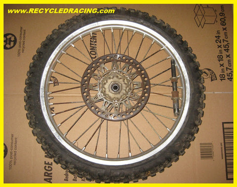 1989 Suzuki RM125 complete front wheel assembly