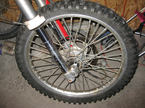 1994 KTM EXC 400 front wheel assembly