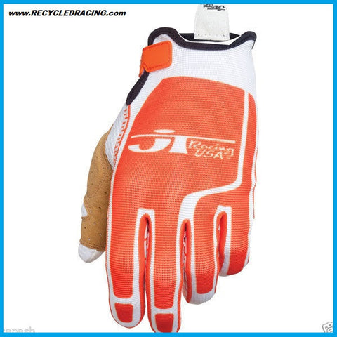 JT Racing Flex Feel gloves Medium org/wht