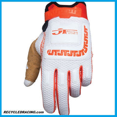 JT Racing Life Line MX gloves XXL Org/Wht