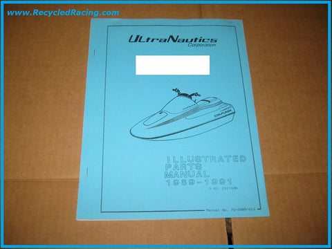 Ultranautics SeaFlash PWC parts manual 89-91